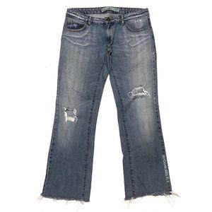 Zara TRF Distressed Boyfriend Jeans